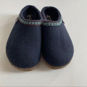 Haflinger Grizzly Wool Clogs Size 38